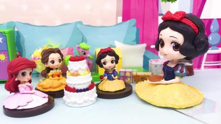 亲子早教宝宝玩具:大礼盒里是蛋糕,可是谁送给白雪公主的呢?