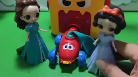 有趣益智宝宝早教:可恶的贝尔把白雪的气球掉了