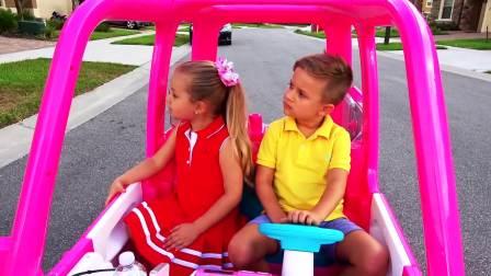 国外儿童时尚,萌宝们坐小巴士去草地上野餐,来看看吧