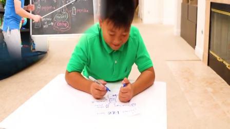 国外儿童时尚:小男孩想卖烤鱼,来帮帮他吧
