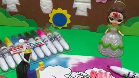 有趣益智宝宝早教:白雪和贝儿都有换装娃娃呢!