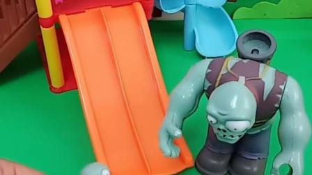 有趣益智宝宝早教:僵尸爸爸带小鬼玩滑梯了