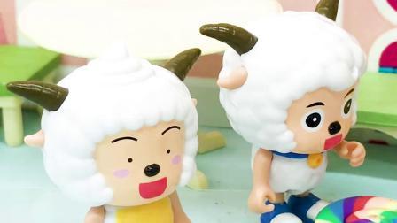 玩具早教宝宝益智:懒羊羊把喜羊羊的棒棒糖偷吃了