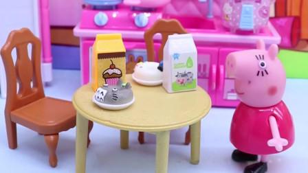有趣亲子动画幼教:乔治把牛奶都给倒了,猪妈妈会知道吗?