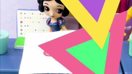 有趣亲子动画幼教:僵尸公主破坏了白雪的画,这下怎么办呀?