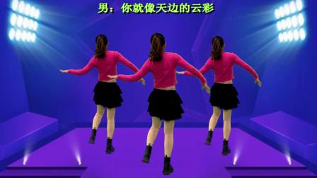 背面广场舞32步《等你回来》广场好多都在跳