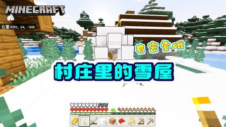 我的世界1.16版联机19:村庄里有雪屋?不仅有,还有密室!