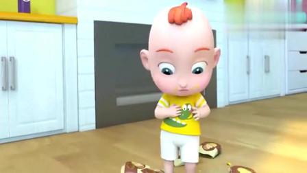 超级宝贝:JOJO喜欢吃薯片,嘴巴弄的脏脏的,都不喜欢吃饭了