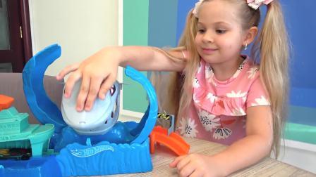 儿童亲子互动,戴安娜和罗玛玩汽车,快来看看吧
