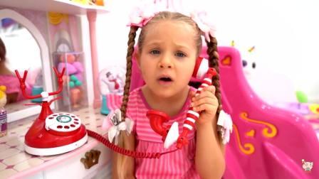 美国时尚儿童,小公主喜欢和宝爸一起玩,真可爱