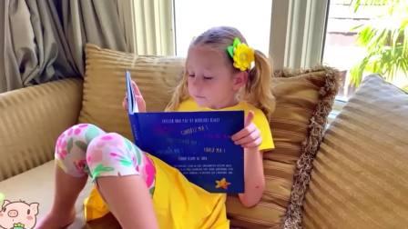 美国时尚儿童,小公主和宝爸的睡前故事,有趣极了