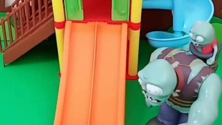 有趣益智宝宝早教:僵尸不让乔治玩滑梯