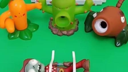 亲子有趣幼教玩具:僵尸变豌豆射手来了