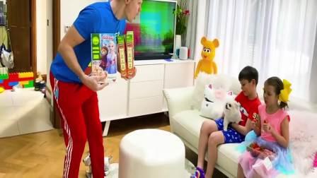 美国时尚儿童,宝爸给小姐弟买来了礼物,是什么呢