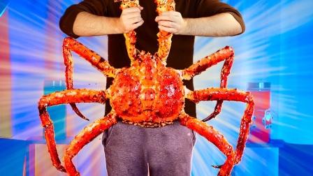 家中烹饪巨无霸帝王蟹,创意美食食谱!