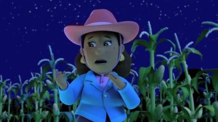 汪汪队:古威市长真倒霉,晚上去找咕咕鸡,碰到了外星人