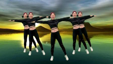 在家跟我练入门健身操,简单两组动作跟着音乐《草原望北京》跳