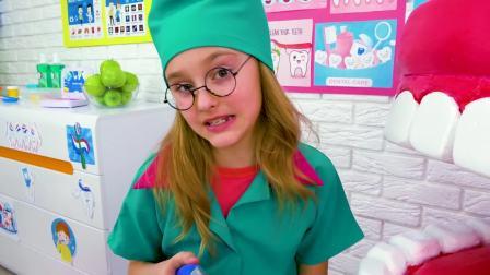 美国儿童时尚,小萝莉化身小医生,真有意思啊