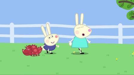 小猪佩奇:猪爸带小朋友做游戏,这转盘转的,也不怕晕