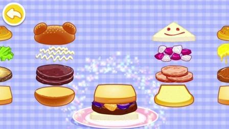 宝宝巴士游戏:依依走进汉堡店吃什么呢?