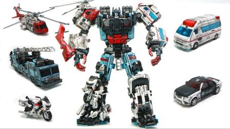 变形金刚合击器是KO型超大型后卫卫队车辆组合机器人玩具.