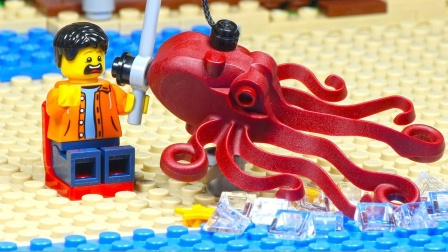 乐高钓鱼-鲨鱼和章鱼攻击