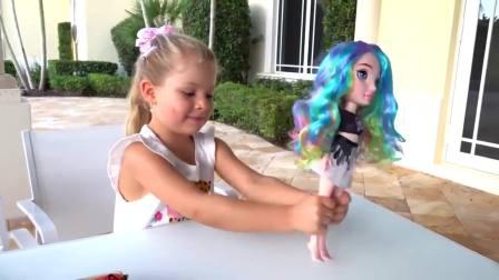 美国儿童时尚,小萝莉同小帅哥用粉色小球同史莱姆做玩具,真棒呀