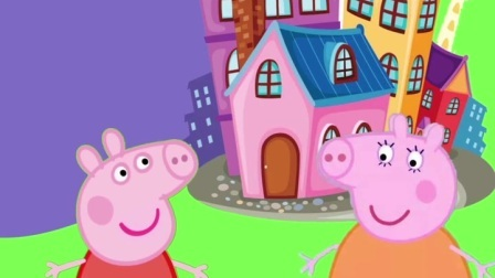 这个猪妈妈要带佩奇出去,还好乔治来的及时
