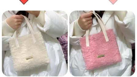 【菲儿妈手作 第132集】手工编织包包DIY毛线手缝材料包绒绒线自制作礼物送女友闺蜜抖音英文扣包