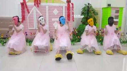 国外萌宝时尚,5个小女孩跳舞唱英文儿歌,很高兴啊