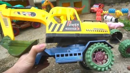 组装一辆挖掘机玩具