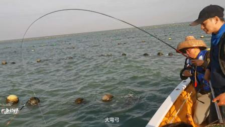 下川岛船矶钓鱼,打个窝下去,结果钓友等着捞鱼,太过瘾了