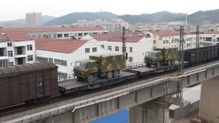 京广线:武江HXD1B牵引货列通过