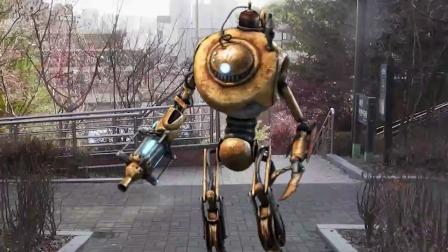自制特效动画:机器人打败了外星人