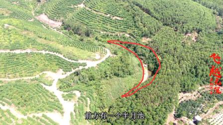 广西横县李氏二世祖地,前方有一个半月池,老师傅看了说不得了!