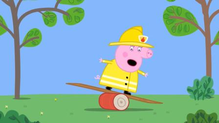 小猪佩奇最新第八季 猪妈妈的消防员训练 简笔画
