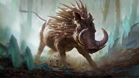 铜皮铁骨、力胜百牛的野猪精封豨