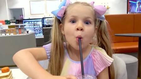 美国儿童时尚,宝爸给小女孩买衣服,真开心