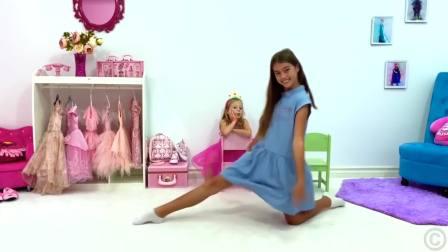 儿童亲子互动,小萝莉争论玩具和惊讶,快来看看吧