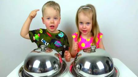 儿童亲子互动,萌娃的真假食物大挑战,好开心啊