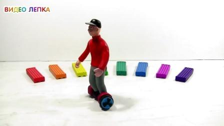 DIY用橡皮泥制作平衡车,骑过这种平衡车的觉得做的怎么样呢