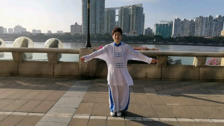 太极(八法五步)由杨亚利于2020年12月在珠江岸边晨练