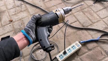 家用的手枪钻坏了别着急扔!师傅教你自己动手2元钱就能修好如新