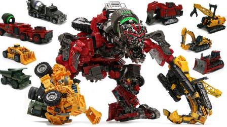 变形金刚电影2 腐烂工作室系列构造图标毁灭者组合8辆车机器人玩具