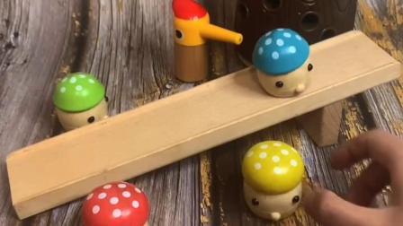 小蘑菇来滑滑梯咯