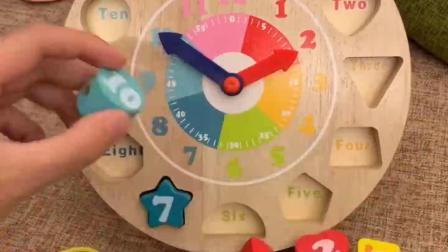 教宝宝形状配对,生肖,认知时间还是串珠子,好多功能啊