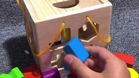 智力开发益智积木,通过形状配对,培养宝宝的动手能力,锻炼手眼协调能力