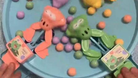 看谁豆子吃的多,吃的少的要做一个月家务,青蛙大哥,往后的日子就要靠你了,保佑我啊