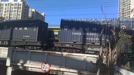 货车与T40次列车会车(20201207)
