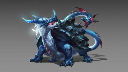 龟蛇合体的玄武,是四大神兽之一,也是神话中斩妖除魔最多的神兽